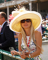 30th April 2021; Kentucky, USA;  One of the many hats on display  during Oaks Day on April 30th, 2021 at Church Hill Downs in Louisville, KT.