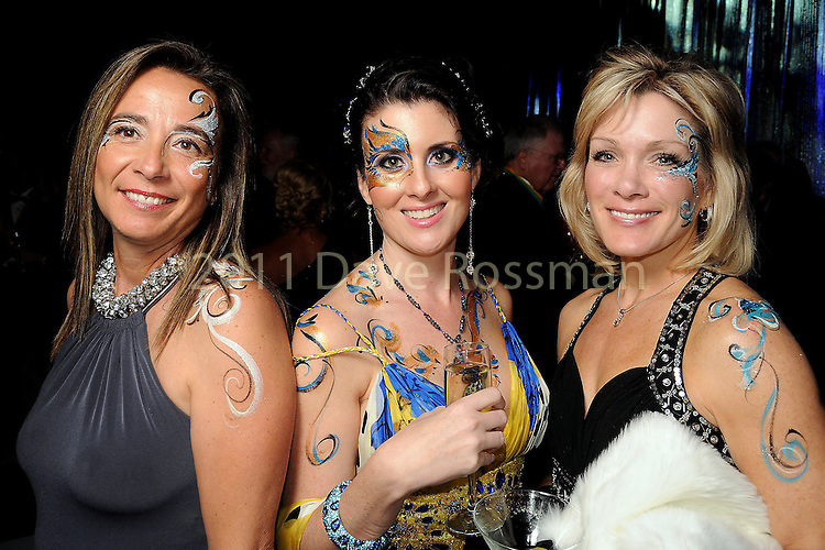From left: Monica Cannavale, Amy Verret-Godfrey and Janice Wheat at the San Luis Salute in Galveston Friday  Feb. 08, 2013.(Dave Rossman/ For the Chronicle)