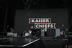 Kaiser Chiefs on stage at Slane Castle backing up the Foo Fighters.<br /> Picture www.newsfile.ie