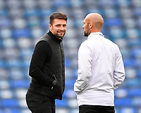 Milton Keynes Dons Manager Russell Martin left during Portsmouth vs MK Dons, Sky Bet EFL League 1 Football at Fratton Park on 10th October 2020
