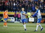 23.01.2019 Kilmarnock v Rangers: Jordan Jones celebrates his goal