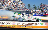 Mar. 13, 2011; Gainesville, FL, USA; NHRA funny car driver Mike Neff during the Gatornationals at Gainesville Raceway. Mandatory Credit: Mark J. Rebilas-