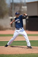 Milwaukee Brewers relief pitcher Gabe Friese (86) during a Minor League Spring Training game against the Kansas City Royals at Maryvale Baseball Park on March 25, 2018 in Phoenix, Arizona. (Zachary Lucy/Four Seam Images)