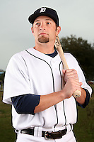 February 27, 2010:  Infielder Kory Casto (65) of the Detroit Tigers poses for a photo during media day at Joker Marchant Stadium in Lakeland, FL.  Photo By Mike Janes/Four Seam Images
