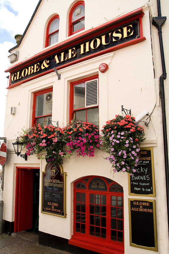 Globe & Ale House bar on Marrab Street in resort town of Penzance, Cornwall, England, southern tip of Britian