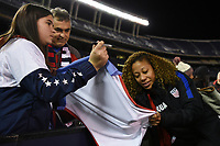 San Diego, CA - Sunday January 21, 2018: Casey Short, fans during an international friendly between the women's national teams of the United States (USA) and Denmark (DEN) at SDCCU Stadium.