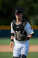 GCL Pirates catcher Dylan Shockley (36) during a Gulf Coast League game against the GCL Twins on August 6, 2019 at Pirate City in Bradenton, Florida.  GCL Twins defeated the GCL Pirates 4-2 in the first game of a doubleheader.  (Mike Janes/Four Seam Images)