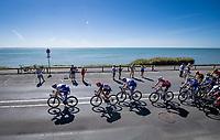 peloton  riding along the Atlantic<br /> <br /> Stage 10 from île d'Oléron (Le Château-d'Oléron) to Île de Ré (Saint-Martin-de-Ré)(169km)<br /> <br /> 107th Tour de France 2020 (2.UWT)<br /> (the 'postponed edition' held in september)<br /> <br /> ©kramon