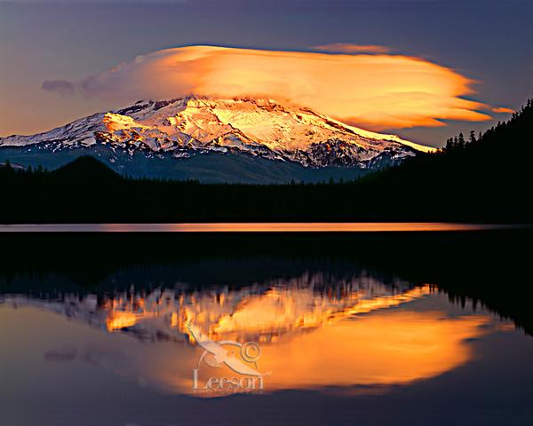 Mount Hood, Lost Lake, OR.  Sunset.