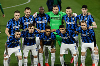 Inter Players during the  italian serie a soccer match,Spezia Inter Milan at  the STadio Picco in La Spezia Italy ,