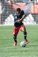 FOXBOROUGH, MA - MARCH 7: DeJuan Jones #24 of New England Revolution during a game between Chicago Fire and New England Revolution at Gillette Stadium on March 7, 2020 in Foxborough, Massachusetts.
