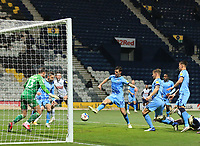 29th December 2020; Deepdale Stadium, Preston, Lancashire, England; English Football League Championship Football, Preston North End versus Coventry City; Dominic Hyam of Coventry City fails to clear the ball from his team's goal mouth