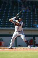 Glendale Desert Dogs designated hitter Li-Jen Chu (2), of the Cleveland Indians organization, at bat during an Arizona Fall League game against the Mesa Solar Sox at Sloan Park on October 27, 2018 in Mesa, Arizona. Glendale defeated Mesa 7-6. (Zachary Lucy/Four Seam Images)