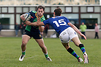 Saturday 10th October 2020 | Ballynahinch vs Queens<br /> <br /> Connor Phillips is tackled by Michael Orr during the Energia Community Series clash between Ballynahinch and Queens at Ballymacarn Park, Ballynahinch, County Down, Northern Ireland. Photo by John Dickson / Dicksondigital