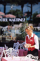 France/06/Alpes-Maritimes/Cannes: L'hotel Martinez sur la croisette [Non destiné à un usage publicitaire - Not intended for an advertising use]
