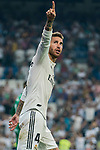 Sergio Ramos of Real Madrid celebrates during the La Liga 2018-19 match between Real Madrid and CD Leganes at Estadio Santiago Bernabeu on September 01 2018 in Madrid, Spain. Photo by Diego Souto / Power Sport Images