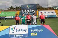BOGOTÁ- COLOMBIA, 13-02-2021:Carlos Ortega Jaimes  referee central. durante  el encuentro entre La Equidad y Millonarios  en partido por la fecha 6 como parte de la Liga BetPlay DIMAYOR 2021 jugado en el estadio  Metroplitano de Techo de la ciudad de Bogotá. /Central referee Carlos Ortega Jaimes  during match .La Equidad and Millonarios in match for the date 6 as part of the BetPlay DIMAYOR League I 2021 played at Metroplitano de Techo stadium in Bogota city. Photo: VizzorImage / Felipe Caicedo / Staff