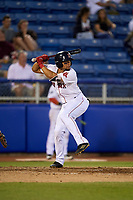 Salem Red Sox right fielder Tyler Hill (24) at bat during a game against the Lynchburg Hillcats on May 10, 2018 at Haley Toyota Field in Salem, Virginia.  Lynchburg defeated Salem 11-5.  (Mike Janes/Four Seam Images)