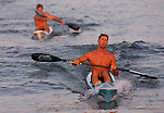 Bradley Beach lifeguard Matt Nunnally crusies to win the Surfski event at the First Annual Asbury Park Beach Bar Lifeguard Competition held at the 3rd Avenue beach in Asbury Park.  Nunnally was the top point earner for the entire competition. ASBURY PARK, NJ  8/4/07  8:21:47 PM  PHOTO BY ANDREW MILLS