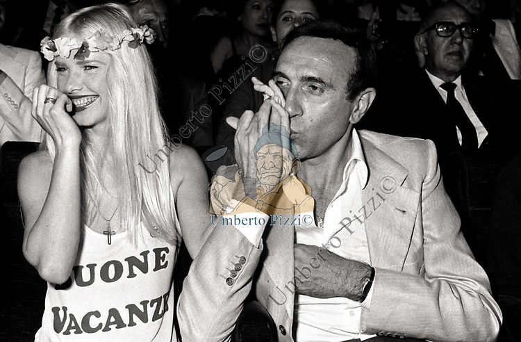 PIPPO BAUDO CON ILONA STALLER - TEATRO SISTINA ROMA 1978