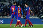 FC Barcelona's FC Barcelona's, Leo Messi, Neymar Santos Jr, Luis Suarez during the match of Copa del Rey between Real Sociedad and  Futbol Club Barcelona at Anoeta Stadium in San Sebastian, Spain. January 19th 2017. (ALTERPHOTOS/Rodrigo Jimenez)