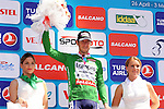 Sacha Modolo (ITA) Lampre-Merida wears the Sprint Green Jersey after winning Stage 5 of the 2015 Presidential Tour of Turkey running 159.9km from Mugla to Pamukkale. 30th April 2015.<br /> Photo: Tour of Turkey/Mario Stiehl/www.newsfile.ie