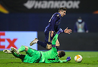 18th March 2021; Zagreb, Croatia;  Luka Ivanusec of Dinamo Zagreb sees his shot saved by goalkeeper Hugo Lloris of Tottenham Hotspur during the UEFA Europa League Round of 16 Second Leg match between Dinamo Zagreb and Tottenham Hotspur at Maksimir stadium