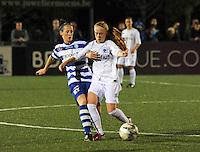 AA Gent dames - Club Brugge dames :<br /> Duel met Silke Demeyere (R) en Lidewei De Waele (L)<br /> foto Dirk / Nikonpro.be