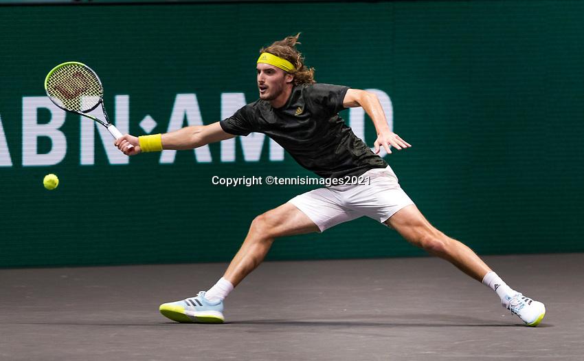 Rotterdam, The Netherlands, 5 march  2021, ABNAMRO World Tennis Tournament, Ahoy,  Quarter final: Stefanos Tsitsipas (GRE). Photo: www.tennisimages.com/henkkoster