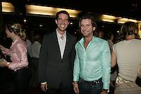 Montreal (Qc) CANADA - 2005 file Photo - Premiere Notre-Dame-de-Paris : andre Boisclair, Rejean Thomas
