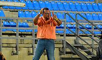 SANTA MARTA-COLOMBIA, 19-12-2020: Union Magdalena y Llaneros F.C., durante partido de la fecha 6 en los Cuadrangulares Semifinales por el Torneo BetPlay DIMAYOR 2020 en el estadio Sierra Nevada de la ciudad de Santa Marta. / Union Magdalena and Llaneros F.C., during a match of the 6th date in the Quadrangular Semifinals for the BetPlay DIMAYOR 2020 Tournament at the Sierra Nevada stadium in the city of Santa Marta. / Photo: VizzorImage / Gustavo Pacheco / Cont.