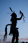 Native American with horsetail
