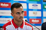 Alvaro Garcia during his official presentation at Vallecas Stadium in Madrid, Spain. August 24, 2018. (ALTERPHOTOS/A. Perez Meca)