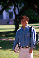 Japanese American college man at the University of Hawaii