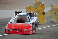 Apr. 1, 2012; Las Vegas, NV, USA: NHRA funny car driver Gary Densham during the Summitracing.com Nationals at The Strip in Las Vegas. Mandatory Credit: Mark J. Rebilas-