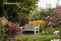 HS73-501z  Garden Bench in Perennial Garden