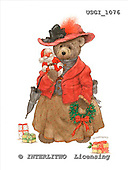 GIORDANO, CUTE ANIMALS, LUSTIGE TIERE, ANIMALITOS DIVERTIDOS, Teddies, paintings+++++,USGI1076,#AC# teddy bears