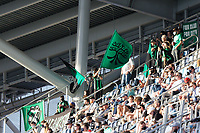 SAINT PAUL, MN - MAY 1: Austin FC Fans during a game between Austin FC and Minnesota United FC at Allianz Field on May 1, 2021 in Saint Paul, Minnesota.