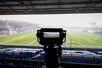 9th January 2021; Kenilworth Road, Luton, Bedfordshire, England; English FA Cup Football, Luton Town versus Reading; A television camera set up ahead of kick off at Kenilworth Road.
