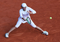 10th October 2020, Roland Garros, Paris, France; French Open tennis, Ladies singles final 2020;  Iga Swiatek of Poland hits a return during the womens singles final against Sofia Kenin of the United States at the French Open tennis tournament
