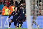Atletico de Madrid's Fernando Torres, Antoine Griezmann, Gabi Fernandez and Yannick Carrasco celebrate goal during Champions League 2015/2016 match. April 5,2016. (ALTERPHOTOS/Acero)