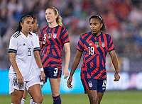 EAST HARTFORD, CT - JULY 1: Catarina Macario #19 of the USWNT looks to the ball during a game between Mexico and USWNT at Rentschler Field on July 1, 2021 in East Hartford, Connecticut.