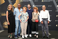 Amélie ETASSE, Loup Denis ELION, Marion GAME, David MORA, Anne-Elisabeth BLATEAU, Gérard HERNANDEZ - Photocall 'SCENES DE MENAGE' - 57ème Festival de la Television de Monte-Carlo. Monte-Carlo, Monaco, 17/06/2017. # 57EME FESTIVAL DE LA TELEVISION DE MONTE-CARLO - PHOTOCALL 'SCENES DE MENAGE'