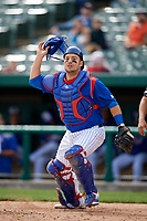South Bend Cubs catcher Tyler Payne (45) during a game against the Kane County Cougars on May 3, 2017 at Four Winds Field in South Bend, Indiana.  South Bend defeated Kane County 6-2.  (Mike Janes/Four Seam Images)