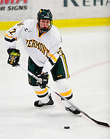 18 October 2009: University of Vermont Catamount defenseman Josh Burrows, a Junior from Prairie Grove, IL, in action during the second period against the Boston College Eagles at Gutterson Fieldhouse in Burlington, Vermont. The Catamounts defeated the Eagles 4-1 to open Vermont's America East hockey season. Mandatory Credit: Ed Wolfstein Photo