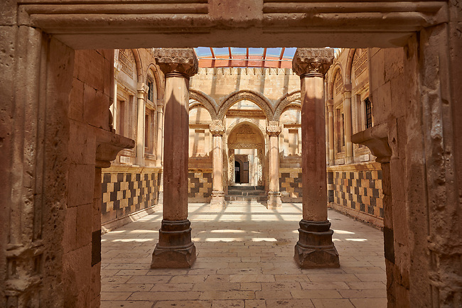 Main Hall in the Hareem of the 18th Century Ottoman architecture of the Ishak Pasha Palace (Turkish: İshak Paşa Sarayı) ,  Agrı province of eastern Turkey.