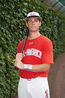 Hagen Danner (24) of Huntington Beach High School in Huntington Beach, California poses for a photo before the Under Armour All-American Game presented by Baseball Factory on July 23, 2016 at Wrigley Field in Chicago, Illinois.  (Mike Janes/Four Seam Images)