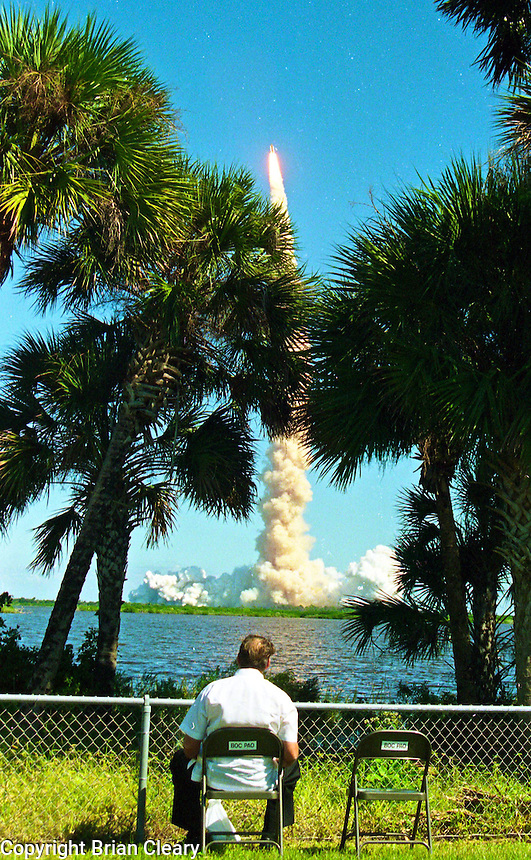 Space Shuttle Atlantis lift-off from Kennerdy Space Center in Titusville, FL to begin the STS-66 mission on November 3, 1994.  (Photo by Brian Cleary / www.bcpix.com)
