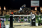 Jessica Mendoza of United Kingdom rides Spirit T in action during the Longines Grand Prix as part of the Longines Hong Kong Masters on 15 February 2015, at the Asia World Expo, outskirts Hong Kong, China. Photo by Victor Fraile / Power Sport Images