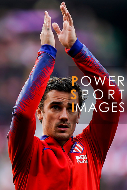Antoine Griezmann of Atletico de Madrid is seen prior to the La Liga 2018-19 match between Atletico de Madrid and Deportivo Alaves at Wanda Metropolitano on December 08 2018 in Madrid, Spain. Photo by Diego Souto / Power Sport Images